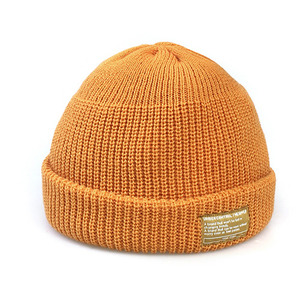 BEANIE / MONK FIT / SOLID MUSTARD