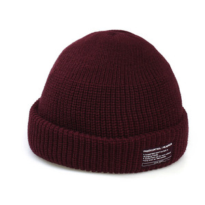 BEANIE / MONK FIT / SOLID WINE