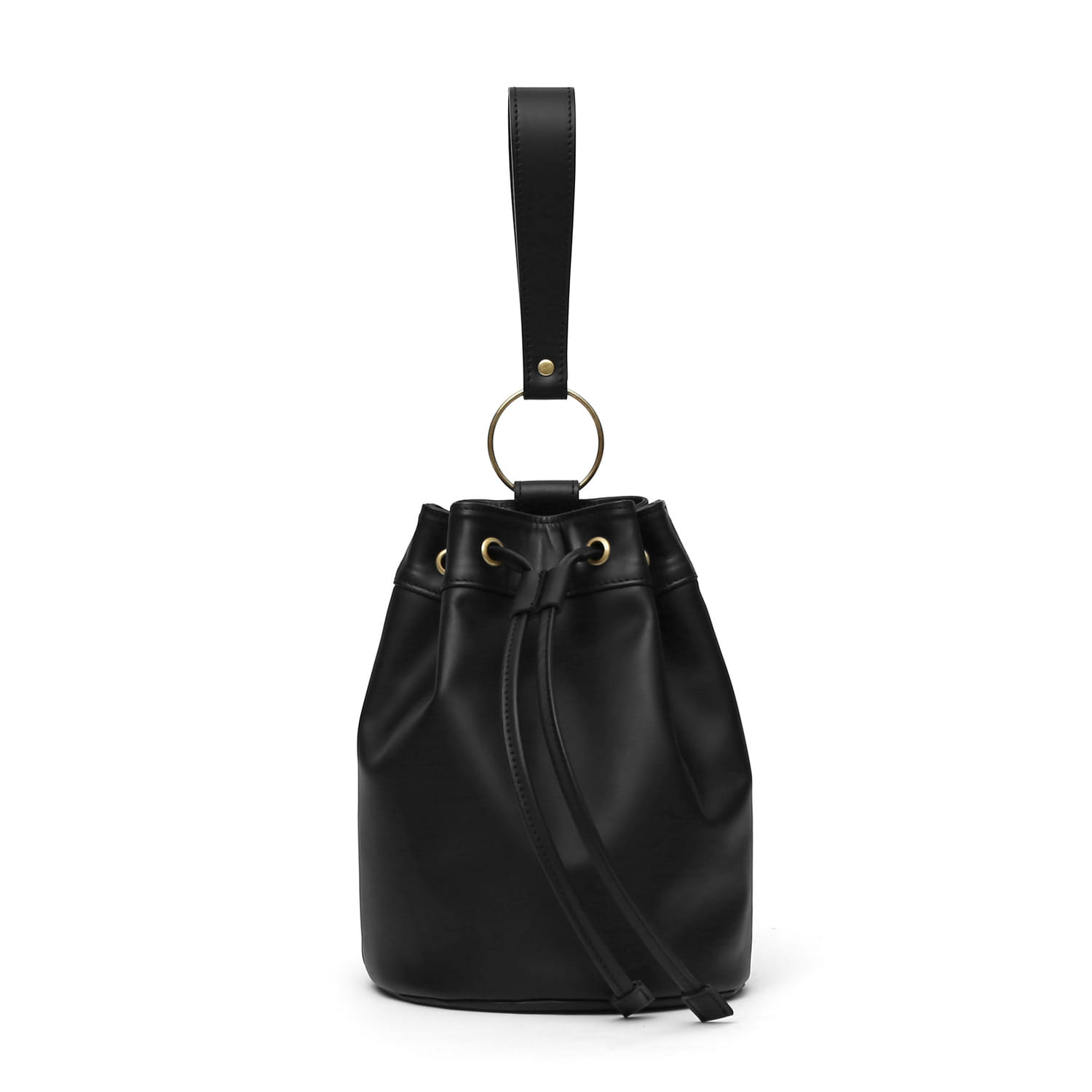 BOWL BAG / RING STRAP / LEATHER / BLACK