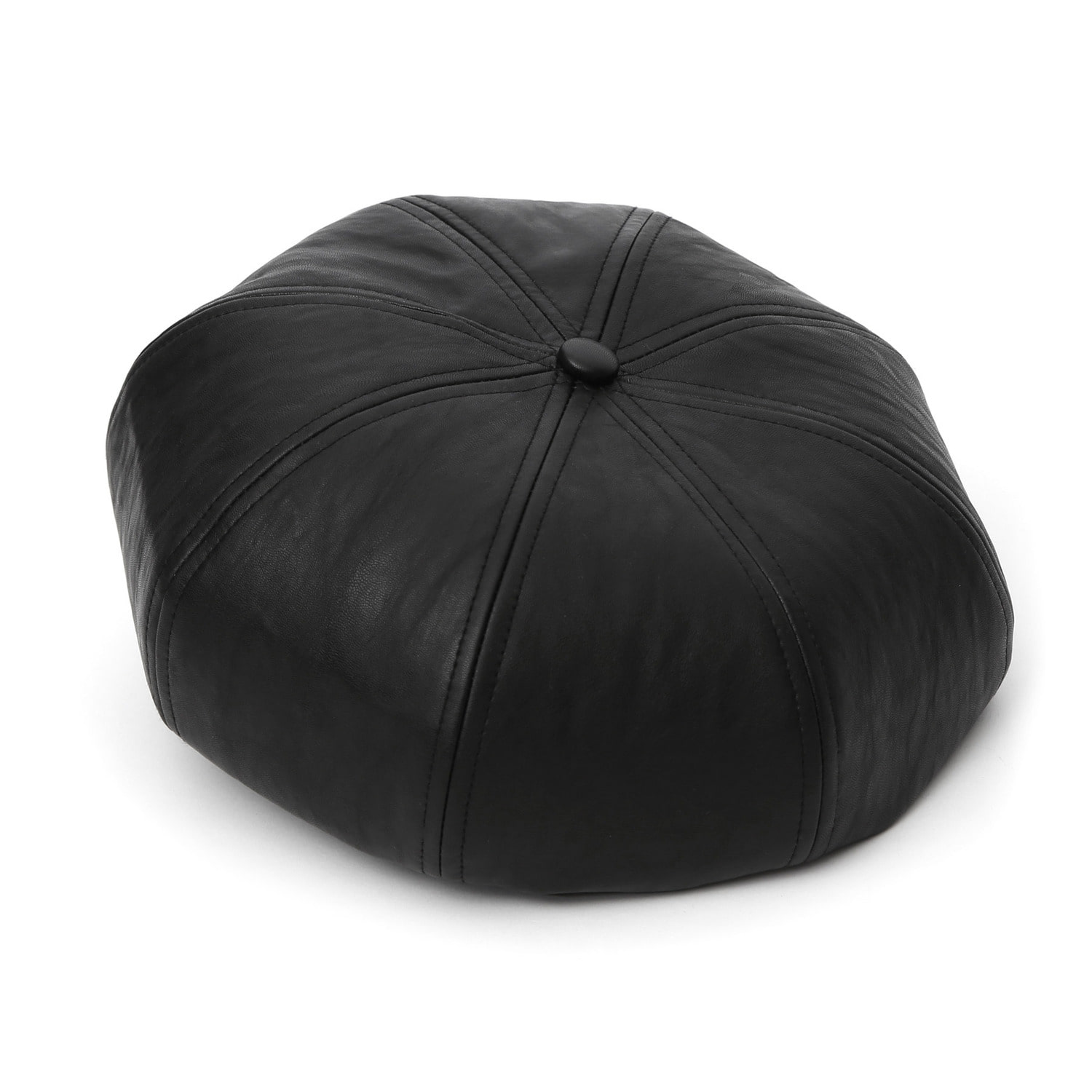 [3차 재입고] BREAD BERET / LEATHER / M BLACK