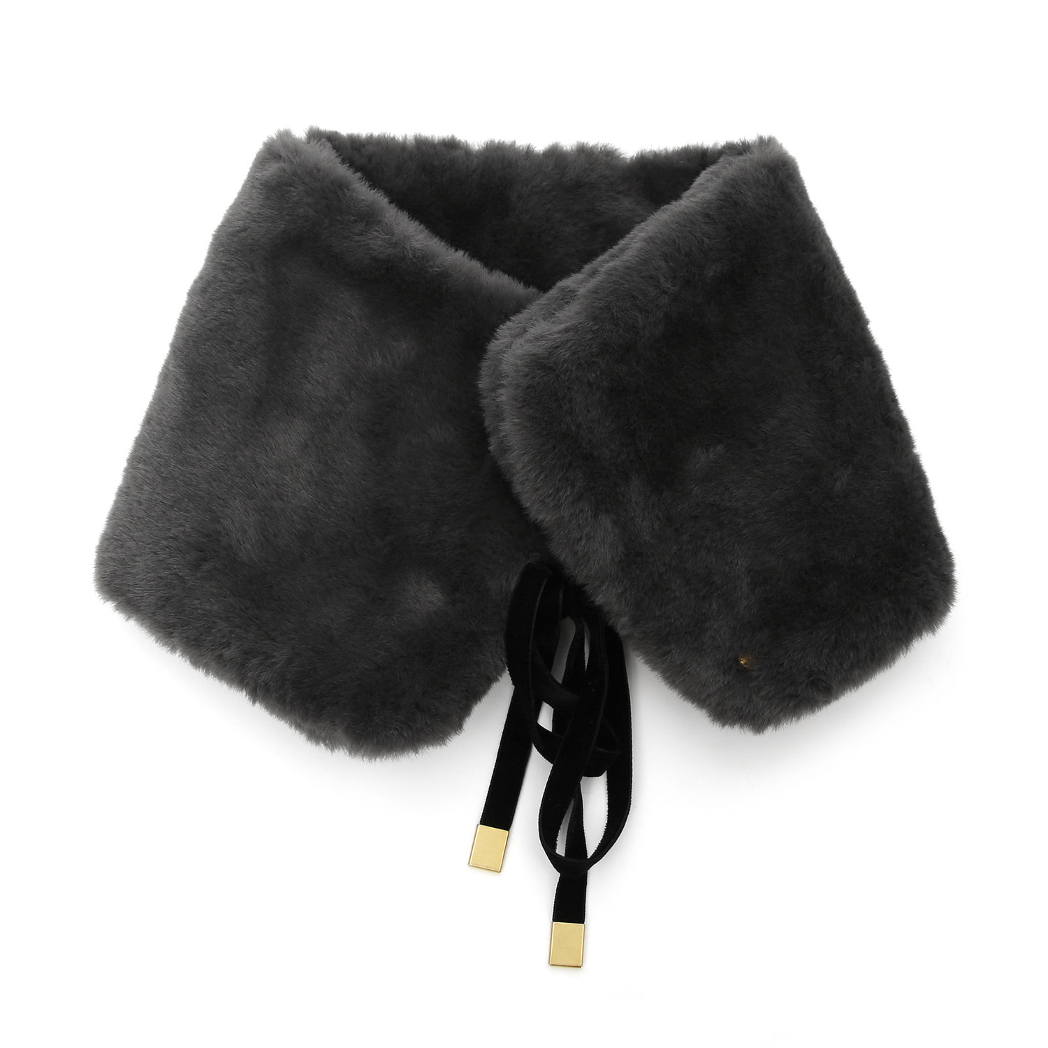 NECK WARMER / FUR / CHARCOAL