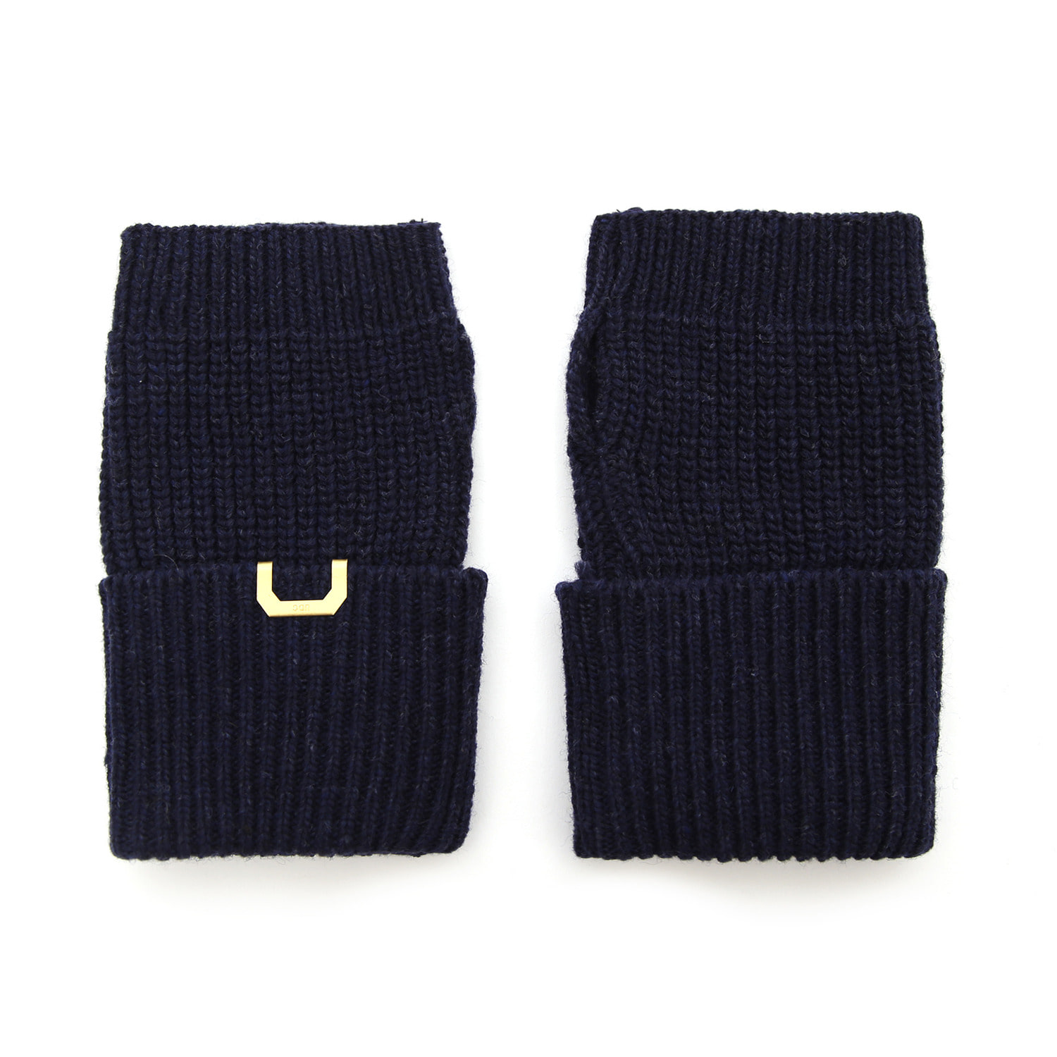 SLEEVE WARMER / LAMBS WOOL / HTR NAVY
